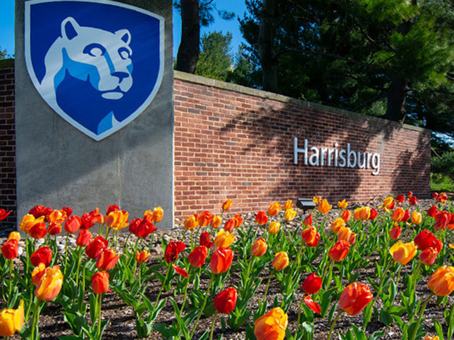 Shot of the Penn State Harrisburg campus located in Harrisburg, PA